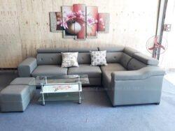 Hình ảnh Mẫu ghế sofa đẹp da chữ L hiện đại và sang trọng