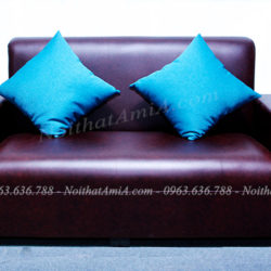AmiA SF049 mẫu ghế sofa da văng mini giá rẻ