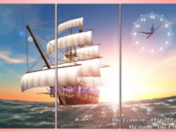 Tranh đẹp treo phòng làm việc thuận buồm xuôi gió