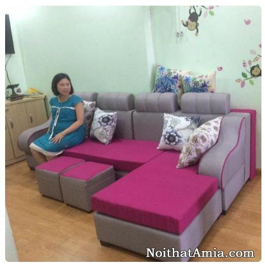 Mau sofa ni dep mau hong tim AmiA SFN050
