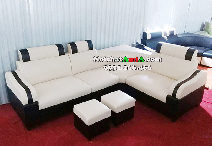 Hình ảnh Mẫu ghế sofa da góc nhỏ mini giá rẻ cho phòng khách nhỏ xinh gia đình