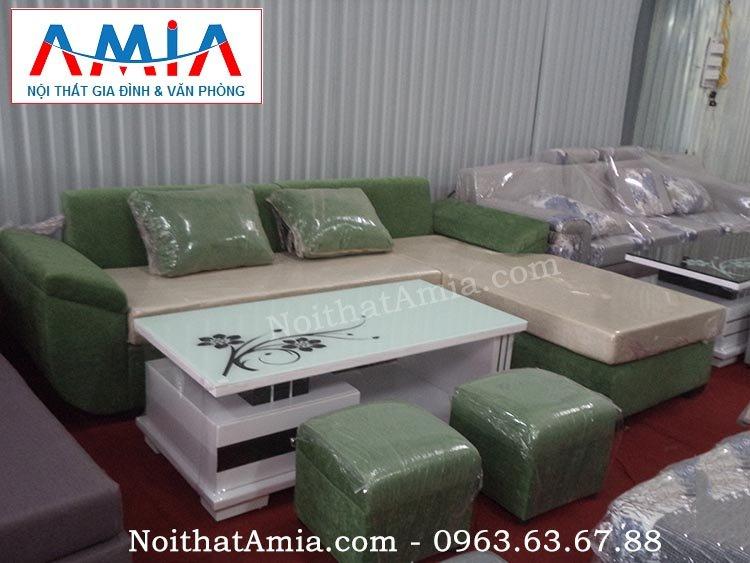 Hình ảnh cho mẫu bàn trà sofa đẹp kết hợp cùng với bộ ghế sofa góc chữ L