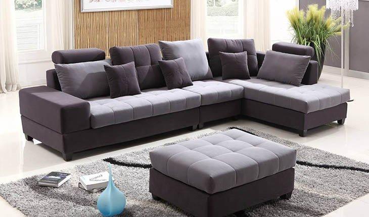Hình ảnh cho mẫu sofa nỉ góc chữ L đẹp hiện đại