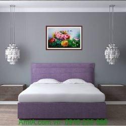 tranh hoa mau don tinh yeu