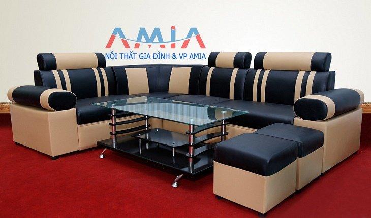 Hình ảnh cho mẫu sofa giá rẻ tại Hà Nội AmiA-SFD026 chỉ với giá 2.290.000 đồng một bộ
