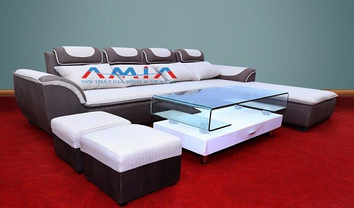 Hình ảnh cho mẫu ghế sofa nỉ phòng khách đẹp AmiA SFN010 chỉ với giá 7.200.000 đồng một bộ