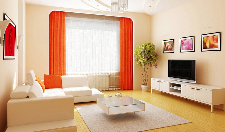 Lựa chọn màu sắc cho bộ bàn ghế sofa phòng khách nhỏ