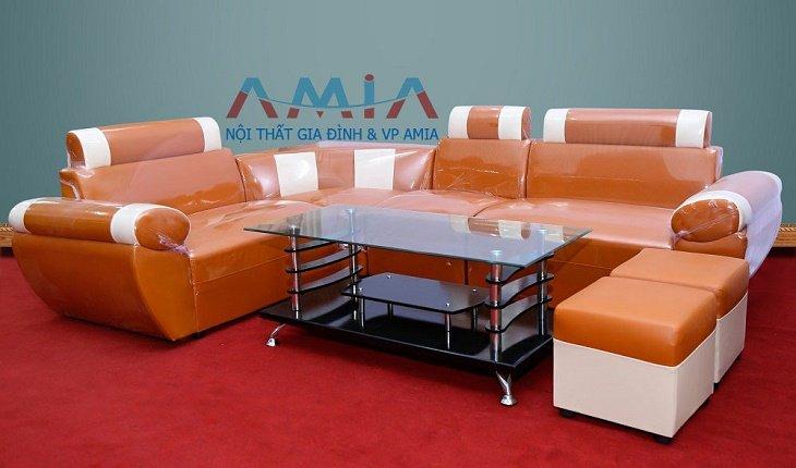 Hình ảnh cho ghế sofa giá rẻ tại Hà Nội AmiA-SFD027 chỉ với giá 2.290.000 đồng một bộ