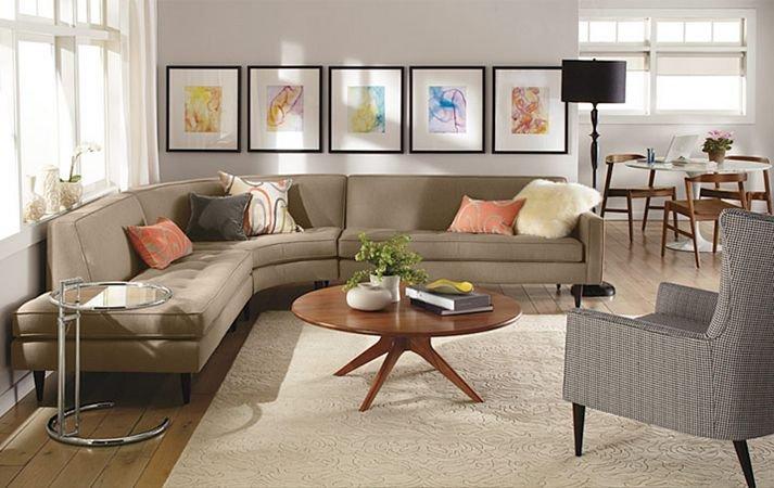 Hình ảnh cho mẫu ghế sofa phòng khách nhỏ với thiết kế ôm trọn góc phòng