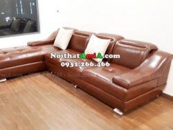 Hình ảnh Ghế sofa da chữ L đẹp hiện đại và sang trọng