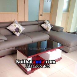Hình ảnh ghế sofa da góc chữ L