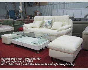 Ghe sofa vang 3 cho dep cho phong khach hien dai AmiA SF099