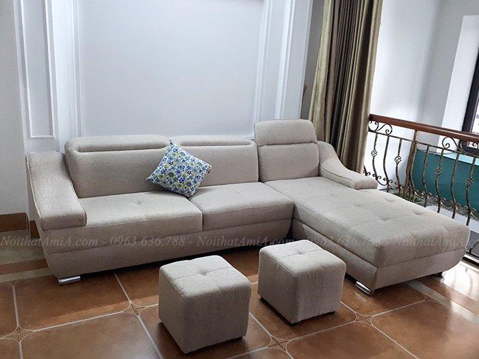 Hình ảnh Sofa nỉ chữ L đẹp thiết kế hiện đại và sang trọng
