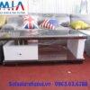 Hình ảnh mẫu bàn trà gỗ kính đẹp AmiA BTR153 đơn giản mà hiện đại
