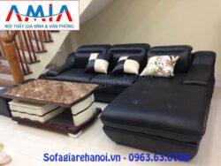 Hình ảnh mẫu bàn trà sofa mặt đá đẹp hiện đại kết hợp cùng bộ ghế sofa đẹp