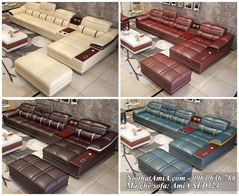 Hình ảnh bộ ghế sofa chữ L đẹp với nhiều màu sắc cho bạn lựa chọn