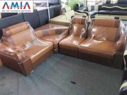 Hình ảnh bộ ghế sofa da góc giá rẻ đẹp hiện đại và sang trọng
