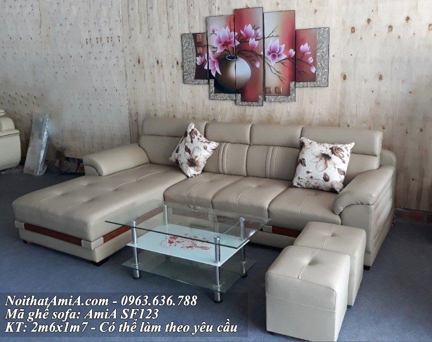 Ghe sofa da goc chu L AmiA SF123