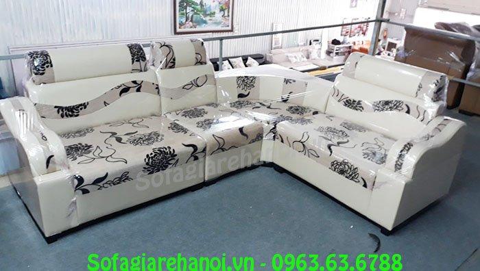 Hình ảnh bộ ghế sofa góc giá rẻ đẹp hiện đại với chất liệu da pha nỉ độc đáo