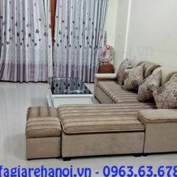 Hình ảnh mẫu ghế sofa nỉ góc chữ L AmiA SFN126 đẹp hiện đại và sang trọng cho không gian căn phòng khách hiện đại