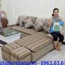 Hình ảnh mẫu ghế sofa nỉ chữ L đẹp được bài trí trong phòng khách đẹp gia đình