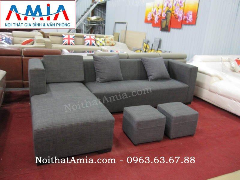 Hình ảnh ghế sofa nỉ góc chữ L cho căn phòng khách nhỏ, nhà nhỏ, nhà chung cư
