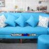 hình ảnh ghế sofa văng đẹp giá rẻ màu xanh