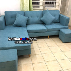 Hình ảnh mẫu ghế sofa nỉ chữ L amia SFN125