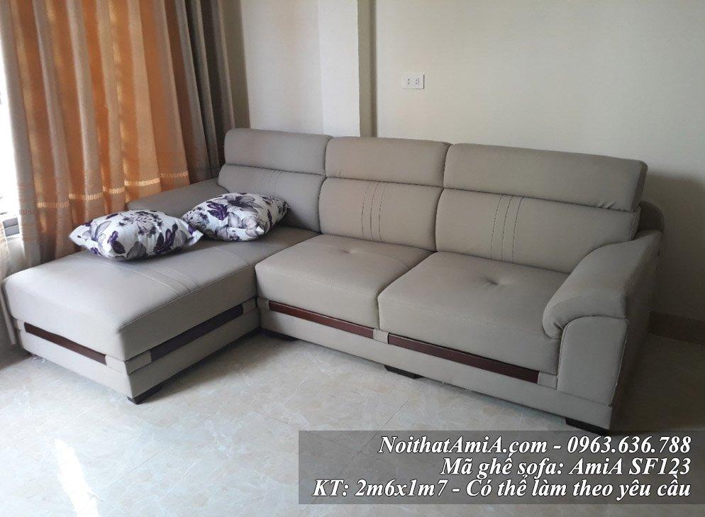 Mau ghe sofa da dep AmiA SF123 lam theo yeu cau
