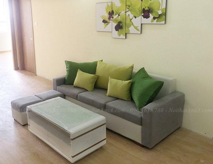 Hình ảnh Mẫu sofa đẹp dạng văng 3 chỗ cho căn phòng khách xinh xắn