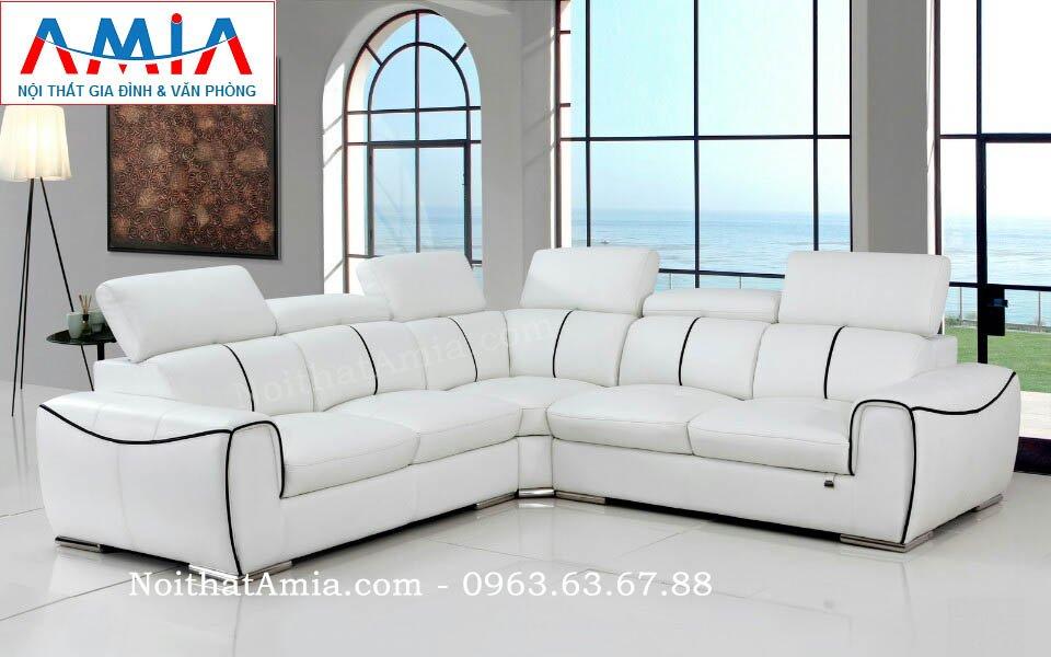 Hình ảnh cho bộ sofa da góc phòng khách đẹp hiện đại và sang trọng cho không gian căn phòng khách đẹp gia đình