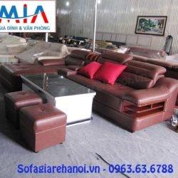 Phong cách thiết kế hiện đại và sang trọng là một trong những điểm mạnh nổi bật của mẫu sản phẩm ghế sofa da góc chữ L