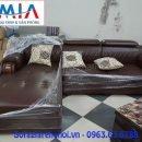 Hình ảnh sofa da góc chữ L AmiA SFD130 mang phong cách thiết kế hiện đại, sang trọng