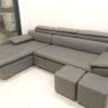 Hình ảnh Mẫu sofa da góc đẹp thiết kế dạng chữ L 3 chỗ