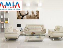 sofa da nguyên bộ giá rẻ sfd105