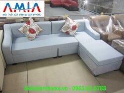 Hình ảnh mẫu ghế sofa nỉ góc chữ L với thiết kế hiện đại, độc đáo