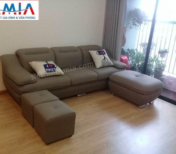 Hình ảnh mẫu ghế sofa văng da 3 chỗ đẹp hiện đại cho căn phòng đẹp