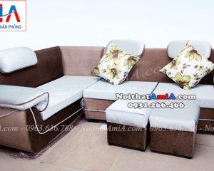 Hình ảnh Ghế sofa nỉ góc đẹp cho căn phòng khách đẹp gia đình