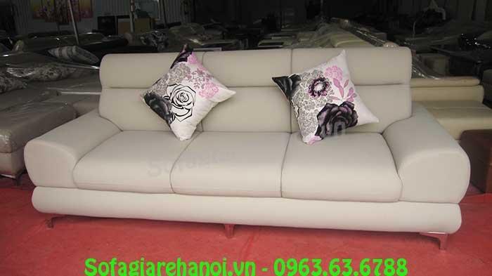 Hình ảnh mẫu ghế sofa văng da 3 chỗ đẹp hiện đại