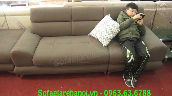 Hình ảnh bộ ghế sofa văng đẹp màu nâu đẹp hiện đại, sang trọng và trẻ trung