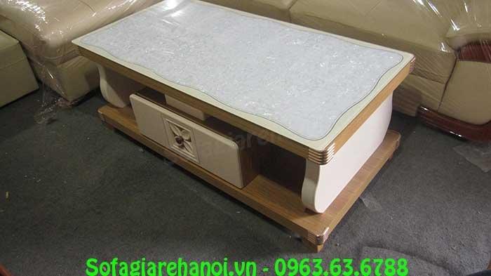 Hình ảnh bàn trà gỗ kính cường lực đẹp cho không gian căn phòng khách đẹp