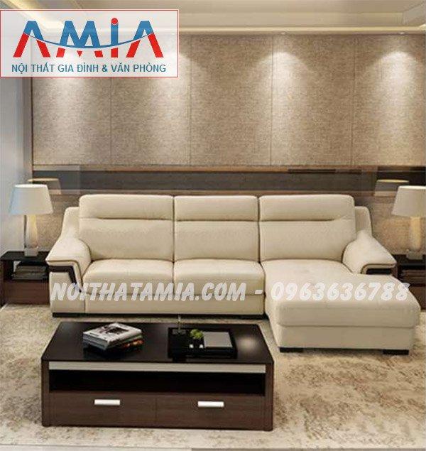 Hình ảnh mẫu ghế sofa da góc chữ L đẹp hiện đại tại Hà Nội