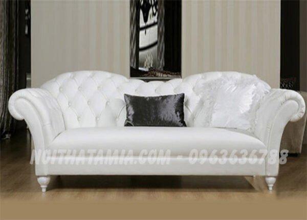 Bộ ghế sofa văng hiện đại và sang trọng với gam màu trắng