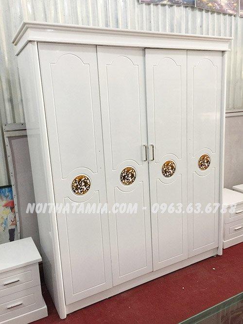 Hình ảnh tủ áo 4 buồng dành cho phòng ngủ vợ chồng