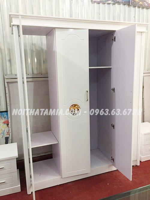 Hình ảnh mẫu tủ quần áo 4 cánh đẹp hiện đại tại Tổng kho Nội thất AmiA