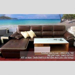 Mau ghe sofa da dep chu L vien ke sang trong Amia SF141