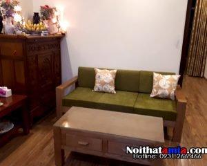 hình ảnh bàn ghế sofa gỗ phòng khách nhỏ bán chạy