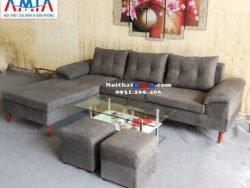 Hình ảnh Bộ ghế sofa nỉ đẹp chụp tại Tổng kho Nội thất AmiA