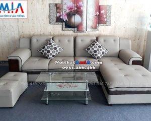 Hình ảnh Ghế sofa đẹp da chữ L với thiết kế viền độc đáo