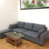 Hình ảnh Ghế sofa đẹp dạng văng nỉ bài trí trong phòng khách gia đình